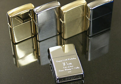 Personalised Zippo Lighters,4 Options free engraving, Great Men's Gift Birthdays