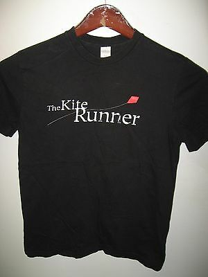 The Kite Runner Khaled Hosseini Movie Afghan 2003 Book Black Thin T Shirt Small