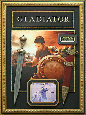 Russell Crowe Signed Gladiator Framed Display
