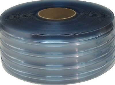 "PVC Vinyl Strip Door Material Bulk Roll 8""w USDA/Freezer/Ribbed x 150ft roll"