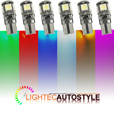 2x ERROR FREE CANBUS 5 SMD LED XENON HID W5W T10 501 CAR SIDE LIGHT BULBS 6000K