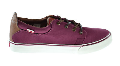 Levis Justin Men's Exclusive Fashion Sneakers Wine-White 516250-32r