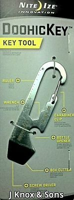 Nite Ize DoohicKey Key Tool Carabiner Clip , Cutter, Screwdriver, Bottle Opener