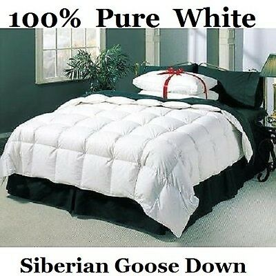 King Bed Size 100% Pure Siberian Goose Down Duvet