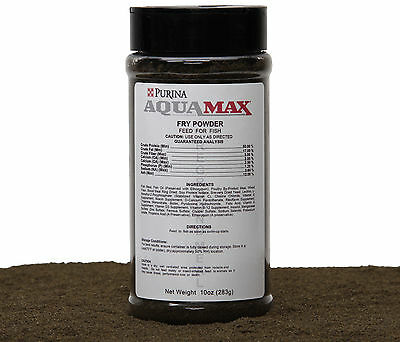 Purina AquaMax Fry Powder, A Complete Sinking Ration For Swim-Ups, 10oz(283g)