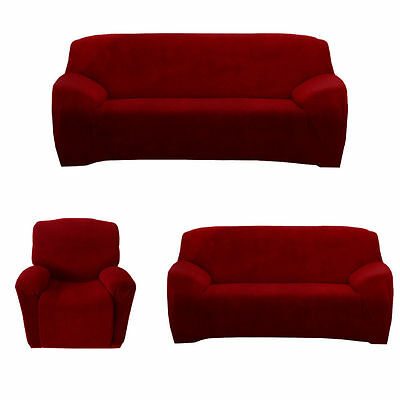 Stretch Chair Couch Cover 3 Seater Recliner 1Seat Loveseat Lounge Protector Sofa
