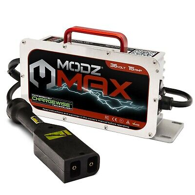 EZGO TXT 96-Up Golf Cart - 36 Volt 15 Amp Battery Charger - Powerwise Handle