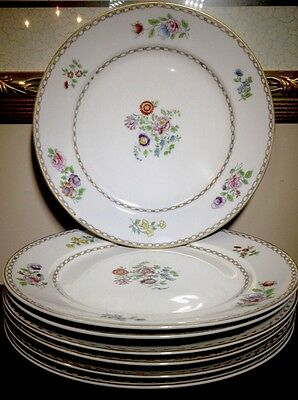 """Vintage Hand Painted Nippon 10"""" China Plates With Floral Pattern Set"""