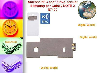 Antenna NFC sostitutiva  sticker originale Samsung per Galaxy NOTE 2 N7100