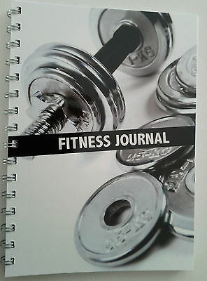 Fitness journal workout tracker gym diary A5 size