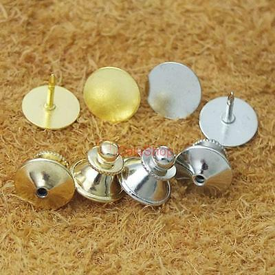 Plated Locking Tie Tac Tack Guard Pin Clutch Backs Findings Copper Chain Finding