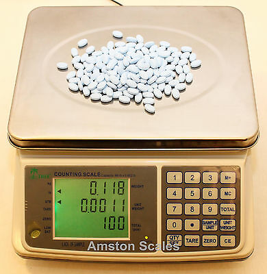 DIGITAL COUNTING PARTS COIN SCALE 6.6 x .0002 LB 3 K x .1 G INVENTORY PAPER PILL