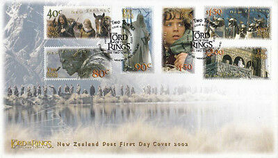 New Zealand The Lord Of The Rings Two Towers 2002 Movie LOTR Middle Earth (FDC)