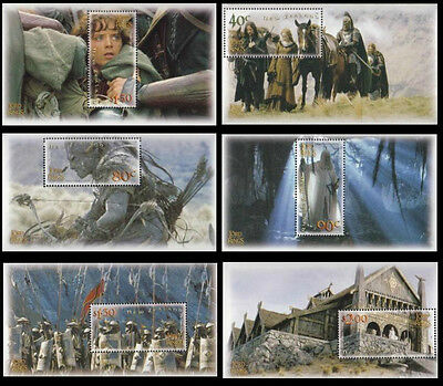 New Zealand The Lord Of The Rings The Two Towers 2002 Movie Middle Earth (ms MNH