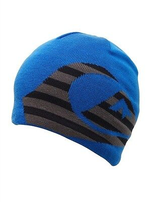 d6214e410ff Nwt Quiksilver Stacked Boys Beanie One Size Blue Solid Hat Fleece Lined