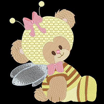 Teddie Wannabees - 60 Machine Embroidery Designs (Azeb)