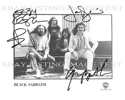 BLACK SABBATH BAND AUTOGRAPHED 8x10 RP PROMO PHOTO ALL 4 OZZY OSBOURNE IRON MAN