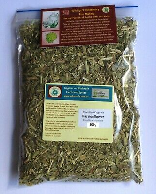 HERB PASSIONFLOWER 50gm Tea Organic Passiflora incarnata Herbal Passion Flower