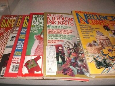 Lot of 6  Vintage McCALL'S NEEDLEWORK AND CRAFTS MAGAZINES 1978-1990