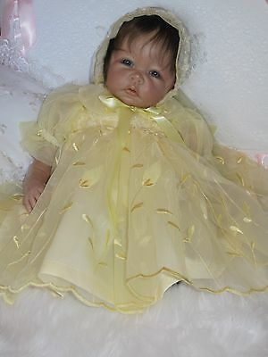 Yellow Organza Short Dress For Reborn Baby