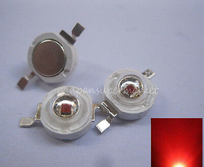 10PCS 3W High power Red 620-625nm EPILEDS LED Light Bulb Part Diode