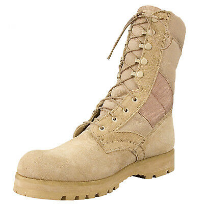 Boots GI Style Desert Tan Sierra Sole Military Tactical Rothco 5257