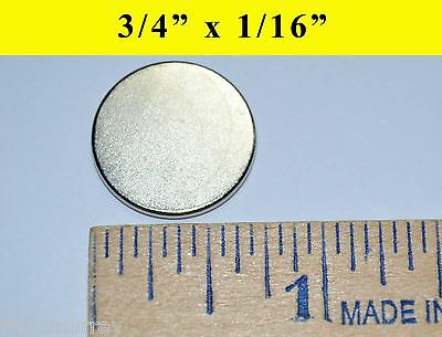 "150 Neodymium N35 Rare Earth Magnets 3/4""x1/16"""
