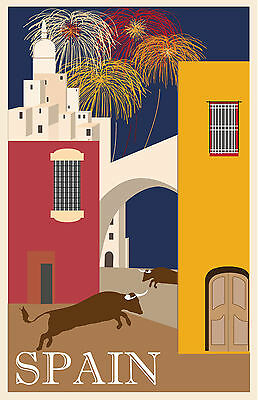 0107 Vintage Travel Poster Art - Spain