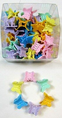 "Wholesale Lot Of 48,96,288,576---1 "" Pastel Tone  Butterfly Hair Claws Clip-Bc48"