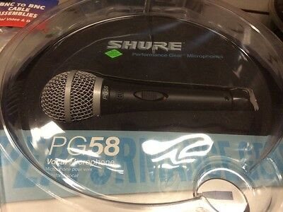 Shure PG58XLR Dynamic Cable Professional Microphone