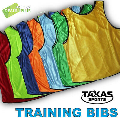 4x FOOTBALL TRAINING BIBS Vests Soccer Rugby Basketball Sports Cricket Netball