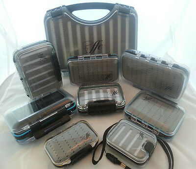 Waterproof see through fly boxes strong high quality low post cost many sizes
