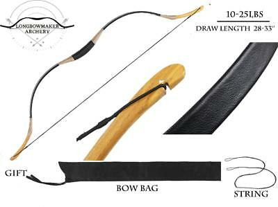 Handmade  HorseBow Archery Hungarian Style Chinese Longbow For Beginner 15-40LBS