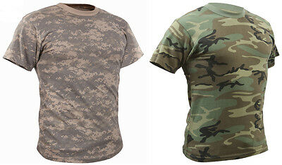 Woodland Or ACU Camouflage Vintage Design Short Sleeve T-Shirt 4777 Rothco