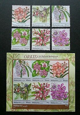 Malaysia National Definitive Orchids 2017 Flower (stamp + ms) MNH *infrared ink