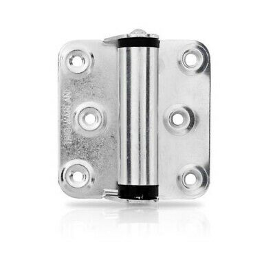 Trio Spring Door Hinge BWL45BZ 76x68x2mm Self Closing Single Action Zinc Plated