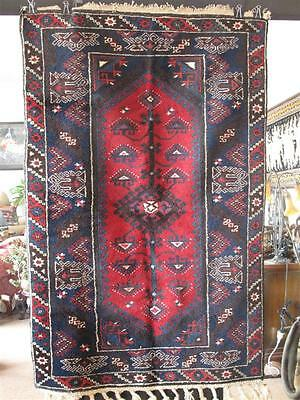Old Turkish Antalya Nomadic Rug… beautiful dark reds and blues...