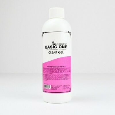 Christrio Gel/Basic One  LED/UV- 8oz. Clear Gel