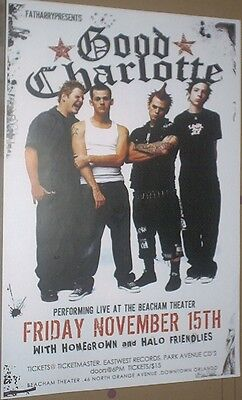 Good Charlotte RARE 2002 LIVE CONCERT GIG POSTER Young And The Hopeless Tour