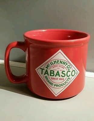 Tabasco Hot Sauce McIlhenny Co. Red Large Coffee Mug Cup