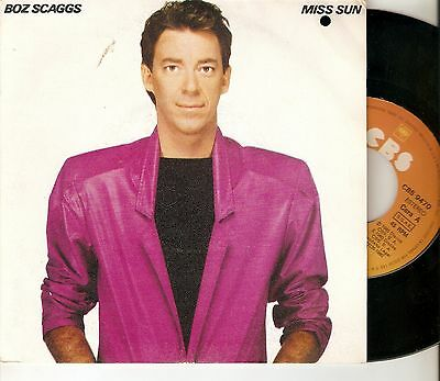 "Boz Scaggs 7"" Spain 45 Miss Sun + Look What You've Done To Me Cbs Letras 1980"