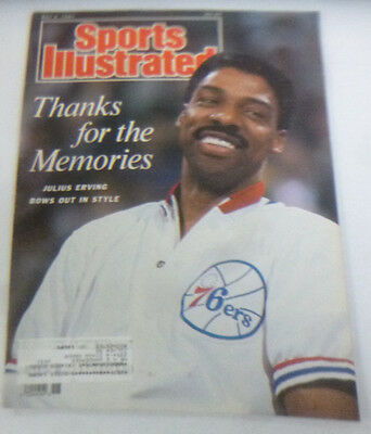Sports Illustrated Magazine Julius Erving Bows Out In Style May 1987 041114R