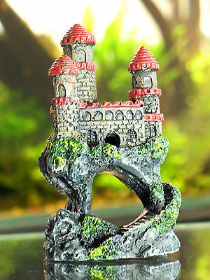 Beautiful Red Castle, aquarium ornament, fish tank decoration Gift