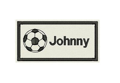 Soccer ball with Name Patch Custom Embroidered tag, badge