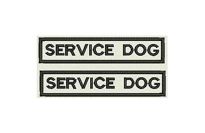 "Set of 2 Service Dog Embroidered tag, badge, Patch -3.75""x0.75"" each"