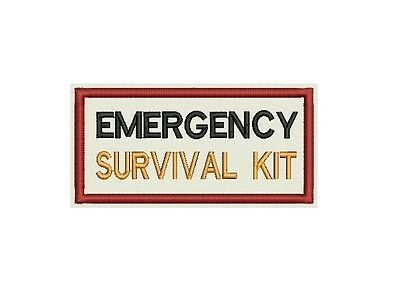 Emergency Survival kit identification Patch Custom Embroidered tag, badge