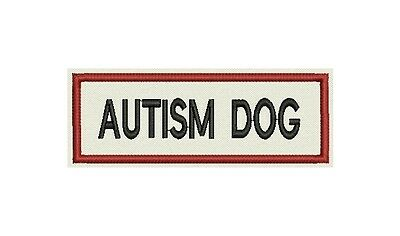 Autism Dog Patch Custom Embroidered with your dog