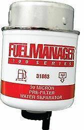 Fuel Manager Replacement Diesel Water Separator Filter Element 30 Micron