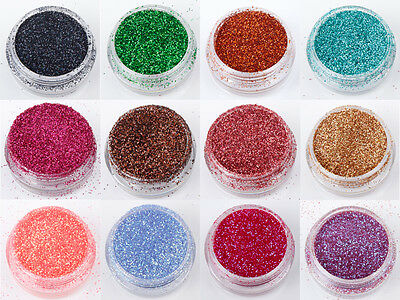 5g 10g PET Glitter Bags in 60 Colours Wine Glass Craft Nail Art Holographic