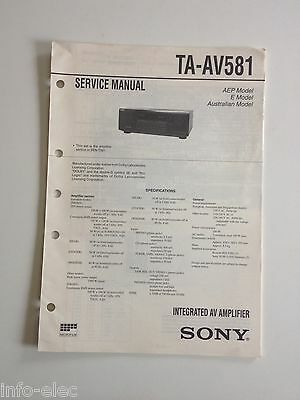 Schema SONY - Service Manual Integrated Av Amplifier TA-AV581 TAAV581